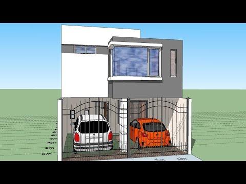 Casa en terreno 6x15 mts for Casa moderna minimalista interior 6m x 12 50m