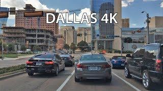 Driving Downtown - Dallas 4K - USA