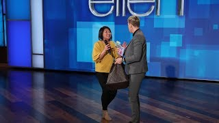 Ellen Goes Through an Audience Member's Purse for Her Birthday
