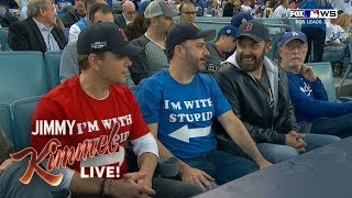 Jimmy Kimmel Sits with Stupid Matt Damon at World Series
