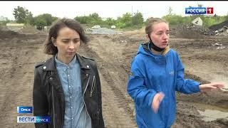 Омичи жалуются на разбитые дороги вокруг крупнейшей стройки на Левобережье