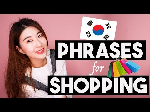TOP 10 Must-Know Korean Phrases for SHOPPING! | 한국언니 Korean Unnie