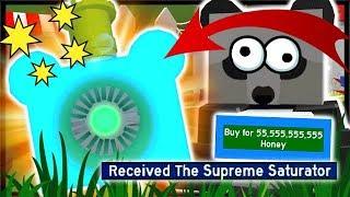 BUYING MOST *EXPENSIVE* OP SUPREME SATURATOR = 55 BILLION HONEY!  | Roblox Bee Swarm Simulator