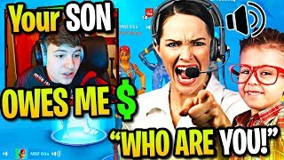CLIX *SCAMMED* by TOXIC KID then MOM GETS ON THE MIC! (Fortnite)