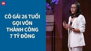 """Shark Tank Việt Nam tập 1: Cô gái 26 tuổi khiến cả 5 """"cá mập"""" giành giật, nhận đầu tư 7 tỷ - VTV24"""