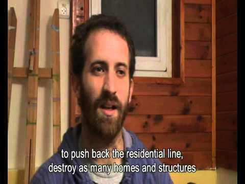 Method for pushing back houses in Gaza