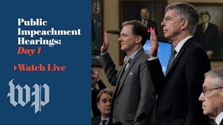 Watch: Day 1 of Trump impeachment inquiry public hearings (FULL LIVE STREAM)