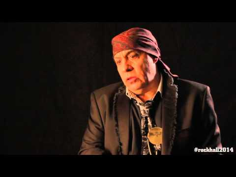 Steven Van Zandt backstage interview at the 2014 Rock and Roll Hall of Fame Inductions