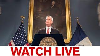 NYC Mayor de Blasio briefing amid malls reopening, back-to-school countdown