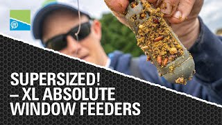 Video thumbnail for SUPERSIZE - XL ABSOLUTE WINDOW FEEDERS! Preston Innovations Match Fishing Videos