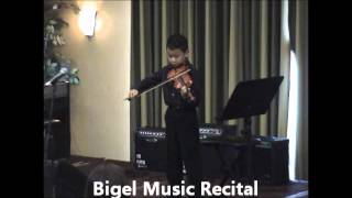 Student who Takes Violin Lessons in New Tampa playing America The Beautiful