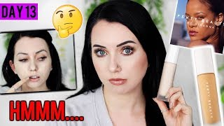 FENTY BEAUTY MATTE FOUNDATION on Acne/Textured Skin {First Impression & Demo!} 15 DAYS OF FOUNDATION