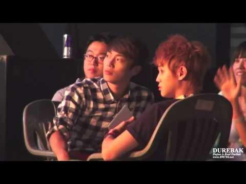 120813 Doojoon & Yoseob sings + dances to B.A.P No Mercy FANCAM @ Music Core