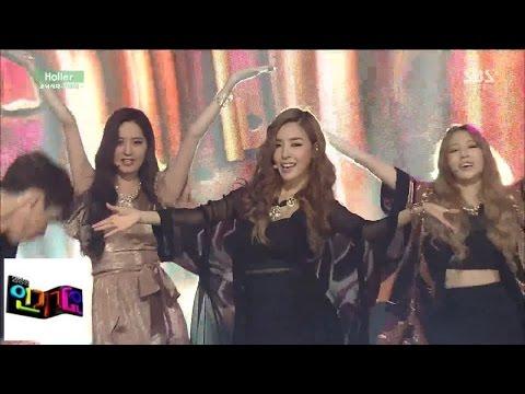 [소녀시대-태티서(TaeTiSeo)] Holler(할라) @인기가요 Inkigayo 141012