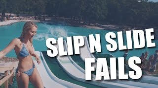 Best Epic SLIP SLIDE n FLY FAILS - Funniest compilation (Planete-Lol)
