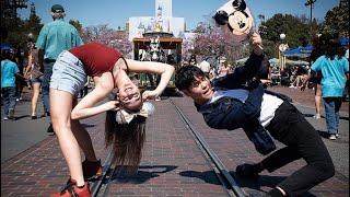 Sean Lew and Kaycee Rice at Disneyland (w/ Jordan Matter) #5MinuteChallenge
