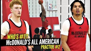 WHO'S #1!? Nico Mannion, Cole Anthony & James Wiseman BATTLE In 2nd McDonald's All American Practice