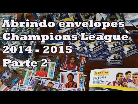 Baixar Abrindo Envelopes álbum Liga dos Campeões Parte 2 Messi UEFA Champions League 2014  2015 Panini