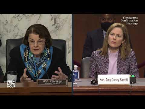 WATCH: Sen. Dianne Feinstein questions Supreme Court nominee Amy Coney Barrett