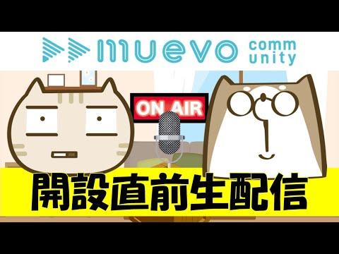 muevoコミュニティ開設直前生配信