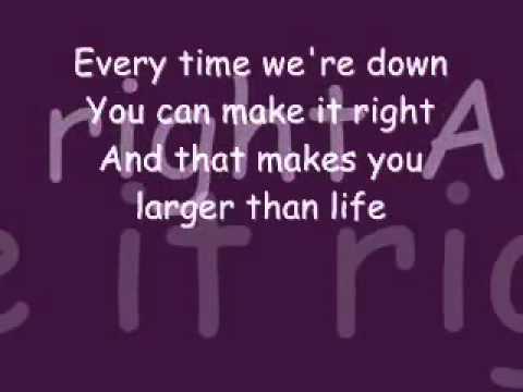 Backstreet Boys Larger Than Life Lyrics. - YouTube