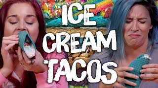 We Tried Ice Cream Tacos!! (Cheat Day)