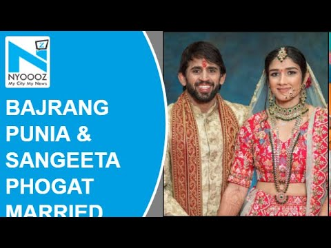 Wrestlers Bajrang Punia and Sangeeta Phogat tie knot in Haryana