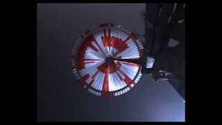 Perseverance's Descent & Touchdown on Mars: Parachute Up-View Camera POV (Official NASA Clip)