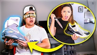 Popping Husbands Nikes and Surprising Him with Air Mags!!