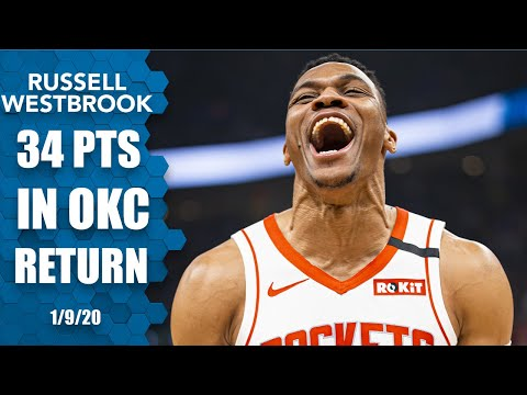 Russell Westbrook gets standing ovation, drops 34 points in return to OKC | 2019-20 NBA Highlights