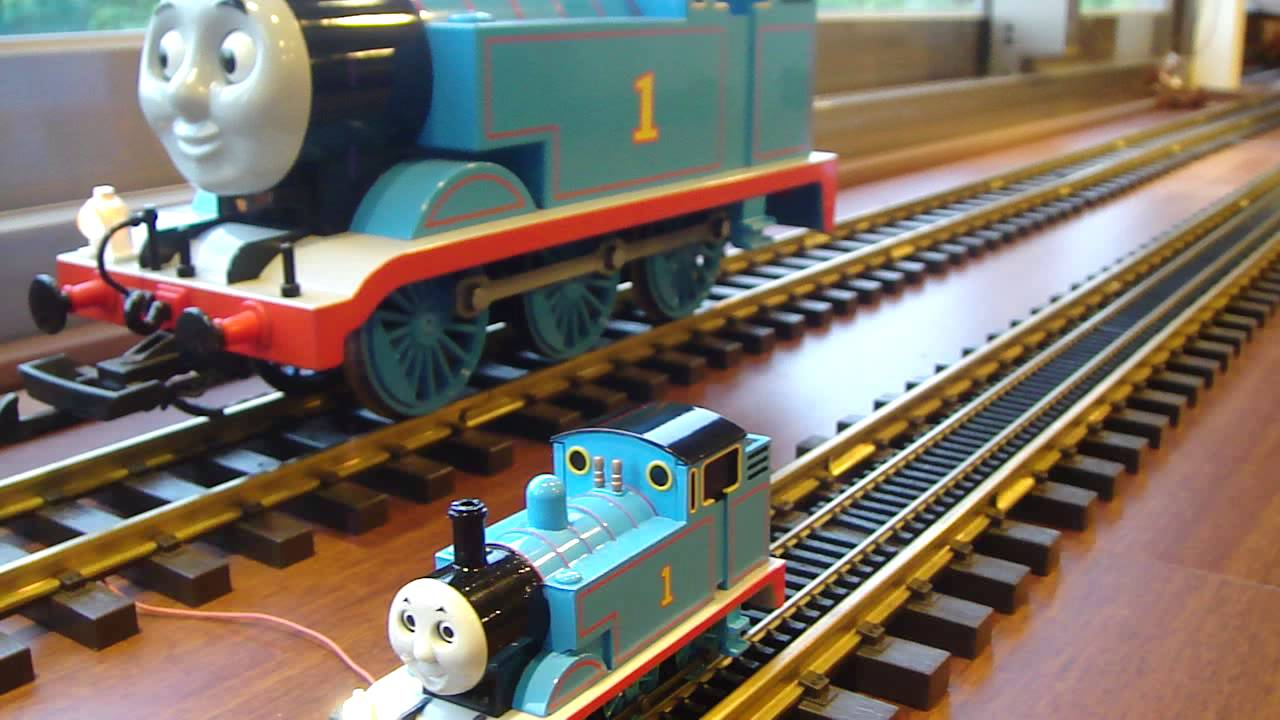 scale & HO scale Thomas with ESU sound decoder - YouTube