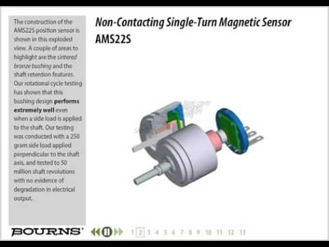 Bourns AMS22S non-Contacting Analog Rotary Position Sensor Training