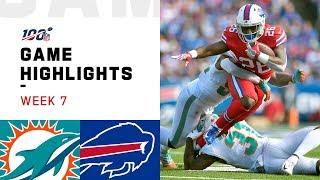 Dolphins vs. Bills Week 7 Highlights | NFL 2019