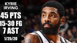 Kyrie Irving goes off for 45 points for Nets vs. Pistons   2019-20 NBA Highlights
