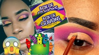 The Crayon Case Box of Crayons Cut Crease Tutorial | Brown Skin