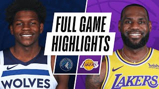 TIMBERWOLVES at LAKERS | FULL GAME HIGHLIGHTS | December 27, 2020