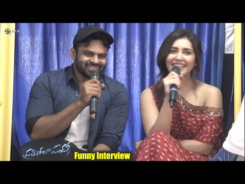 Sai-Dharam-Tej-and-Raashi-Khanna-Funny-Interview-about-PrathiRoju-Pandage-Movie