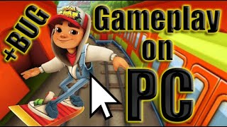 Subway Surfers Gameplay on PC   My record is 732355