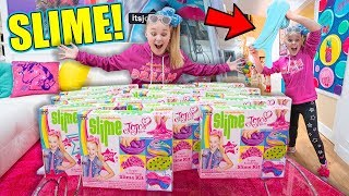 MAKING JOJO SIWA SLIME!! *Huge FLUFFY Slime!*