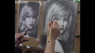 ASMR Drawing Practice(11th) Taylor Swift