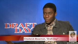 Draft Day Preview Chadwick Boseman Interview AURN com