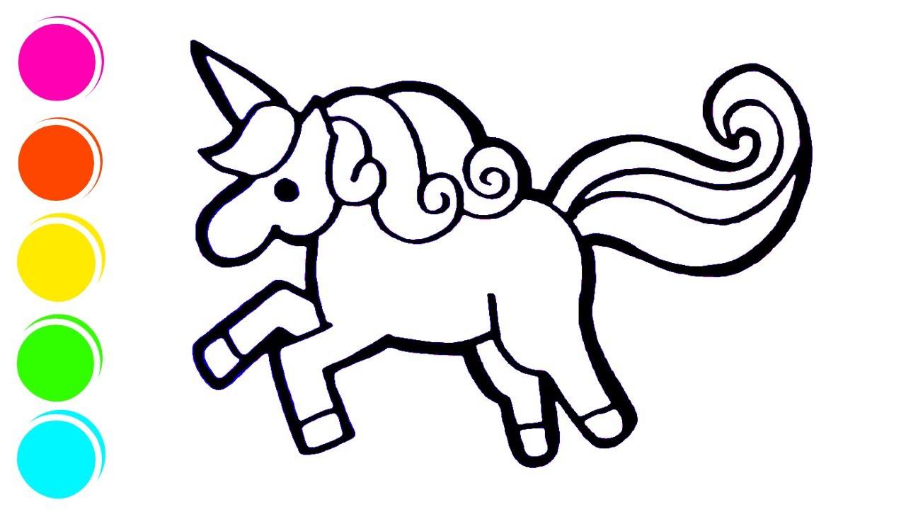 Unicorn Pelangi Warna Warni Belajar Menggambar Dan Mewarnai