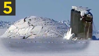 Top 5 Submarine Surfaces Through Ice
