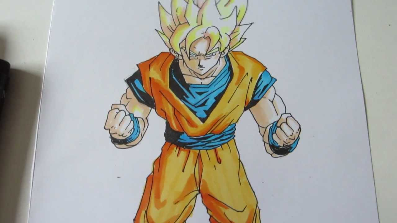 How to draw super saiyan