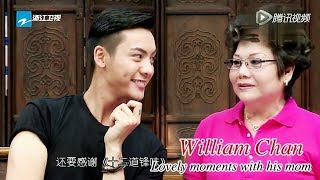 [EngSub] William Chan and his love for his mom (Lovely moments from interview and shows)