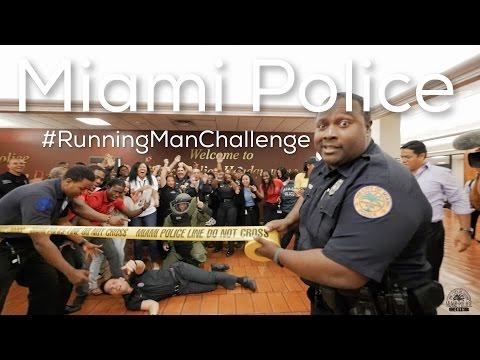 Miami Police Running Man Challenge