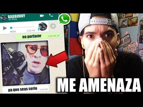 """BAD BUNNY me AMENAZA por usar su CANCION """"CHAMBEA"""" en mi BROMA con LETRA DE CANCION"""