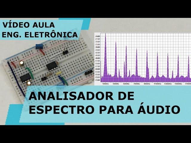 MONTE UM ANALISADOR DE ESPECTRO PARA FAIXA DE ÁUDIO | Vídeo Aula #249