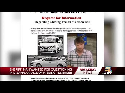 Sheriff: Man wanted for questioning in Madison Bell's disappearance