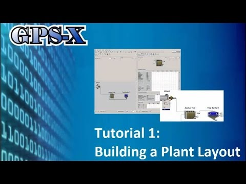 GPS-X Tutorial 1: Building a Plant Layout